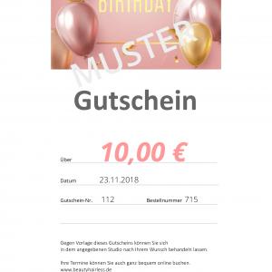 Geburtstagsgutschein 10€