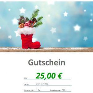 Nikolausgutschein 25€