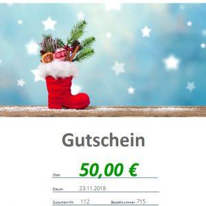 Nikolausgutschein 50€